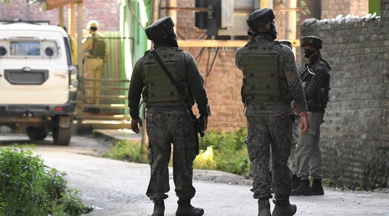 Tral encounter, J&K encounter, hizbul mujahideen, hizbul mujahideen militants killed, indian express