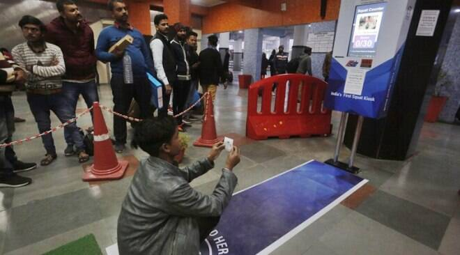 Free platform ticket for 30 squats at Delhi's Anand Vihar railway station