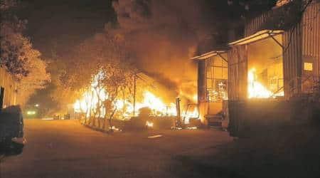 Massive fire destroys auto supplier company's plant at Hinjewadi MIDC