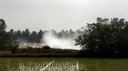 hyderabad gas leak, Katrenikona mandal gas leak, andhra pradesh village, ongc, indian express