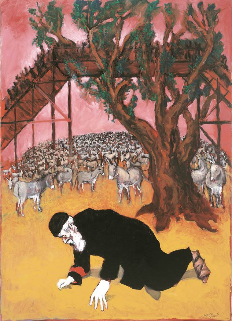 Gerard Garouste, Gerard Garouste paintings, Gerard Garouste Warsaw Ghetto painting, Warsaw Ghetto, Indian Express