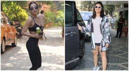 gym wear, celebs at the gym, malaika arora gym fashion, parineeti chopra gym fashion, malaika arora photos, parineeti chopra photos