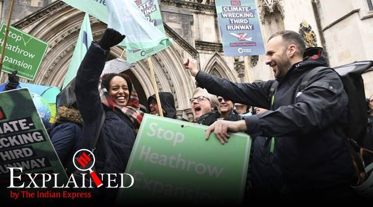 Heathrow third runway, Heathrow airport expansion plans, Heathrow airport court ruling, Grant Shapps, Boris Johnson, express explained, indian express