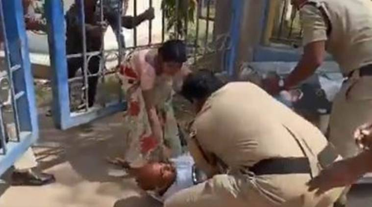 Telangana: Police face heat after video shows cop kicking suicide victim's father