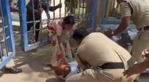 Telangana: Video of policeman thrashing father of deceased girl goes viral, SP assures 'suitable action'