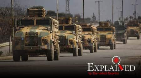 Syria war, Turkey war, Idlib war, war over Idlib, war in Syria, Recep Tayyip Erdogan, Turkish President, Turkey President Recep Tayyip Erdogan, Express Explained, Indian Express
