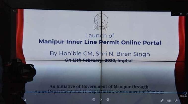 Inner Line Permit, Inner Line Permit web portal, ILP system, Inner Line Permit system, ILP system online portal, Manipur ILP system, Manipur Inner Line Permit system, Manipur news, Indian Express