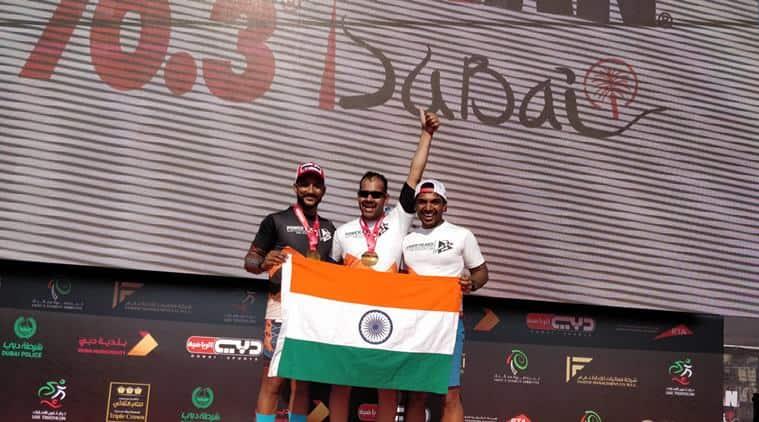ironman race, half-ironman, blind man ironman race, first blind indian ironman, ironman 70.3 dubai, ironman indian, indian express