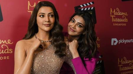 Kajal Aggarwal wax statue in Singapore