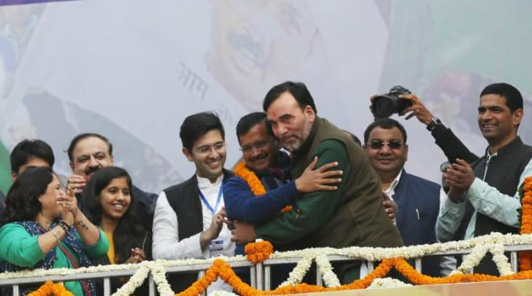 delhi cm arvind kejriwal with family aap victory speech gopal rai