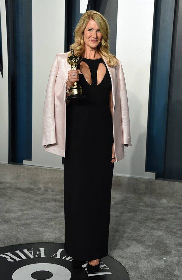 oscars, vanity fair party, oscars 2020, vanity fair part 2020, scarlett johansson, kylie jenner vanity fair photos, laura dern vanity fair photos, indian express, indian express news
