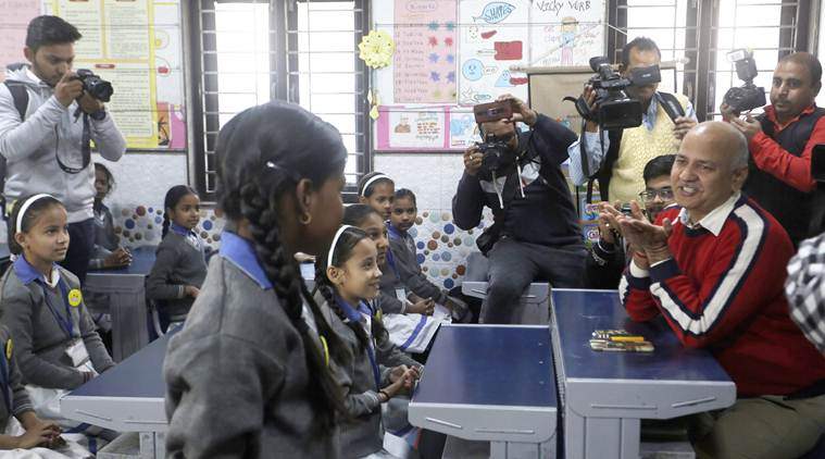 Dash of happiness for Melania at Delhi school