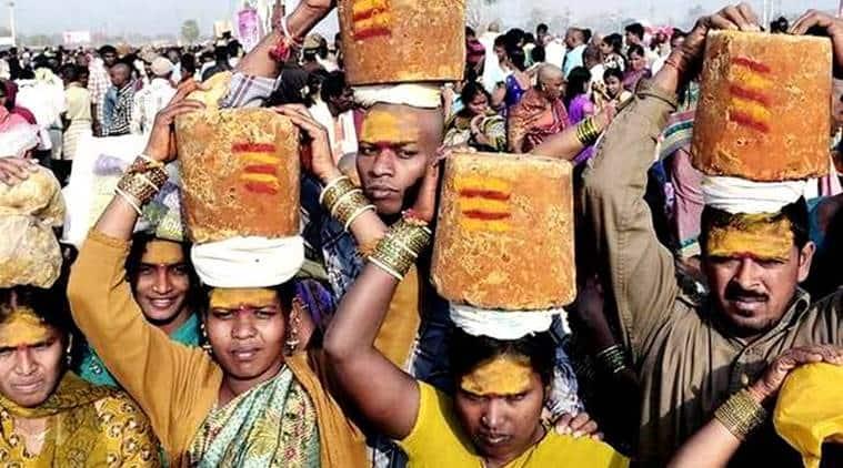 Medaram Jatara, plastic free Medaram Jatara, Sammakka Sarlamma Jatara, telangana tribal festival, Eturnagaram Wildlife Sanctuary