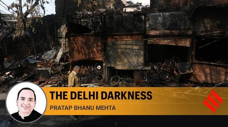 Delhi violence, Delhi city riots, Delhi violence BJP, Amit Shah Delhi violence, Delhi Kapil Mishra speech, riots in delhi, PB Mehta Indian Express