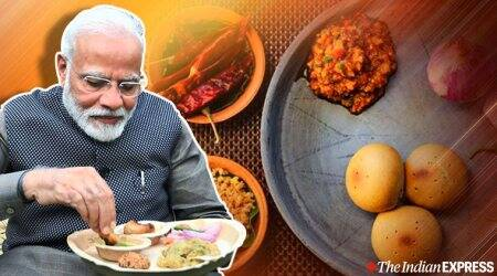 Prime Minister Narendra Modi, litti chokha recipe, Hunar Haat, Delhi Rajpath, litti chokha, litti chokha recipe bihar, indian express