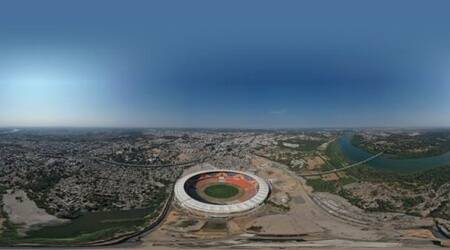 Motera Stadium's aerial view takes social media by storm