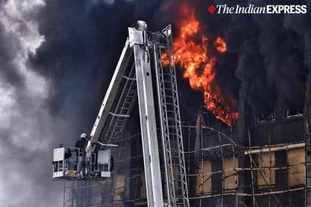 Mumbai fire, Mumbai GST Bhavan fire, GST Bhavan fire, GST Bhavan fire Mumbai, Mumbai fire GST Bhavan, Mumbai Fire Services, Mumbai news, city news, Indian Express