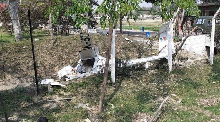 NCC plane crash, NCC pilot killed, patiala plane crash, punjab news, indian express