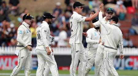 Kyle Jamieson towers over India on Day 1 as visitors collapse in rain-hit Wellington