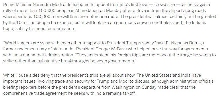 Donald Trump, Donald Trump India visit, US President Donald Trump, Donald Trump in India, Trump in India, Namastey Trump event, India news, Indian Express