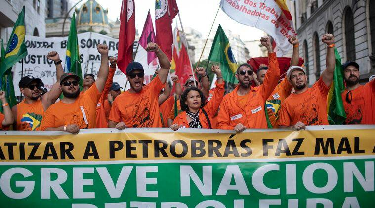 brazil oil workers, petrobras, oil giant, rio de janeiro, brazil news, world news, indian express