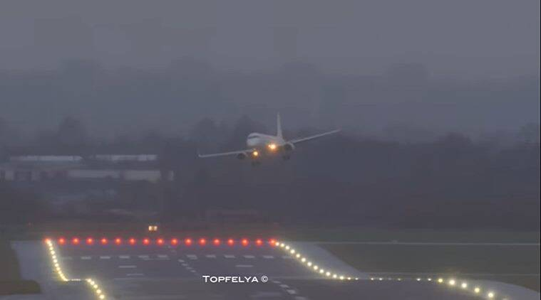 Watch: Planes struggle to land, take off amid Storm Ciara in Europe