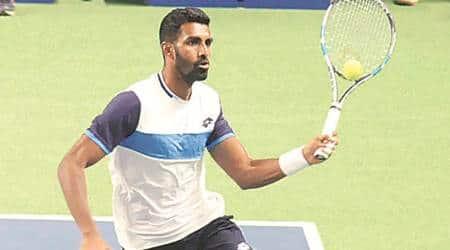 Prajnesh Gunneswaran, Tata Open Maharashtra, Maharashtra Open, Prajnesh Gunneswaran Tata Open Maharashtra, Sports news, Indian Express
