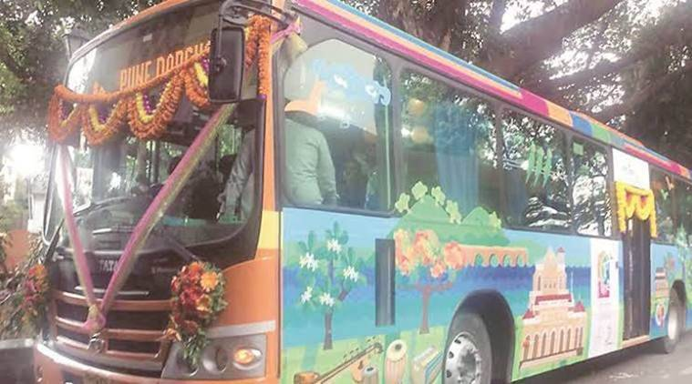 Pune Darshan bus survice, poor passenger count on pune darshan, Pune Mahanagar Parivahan Mahamandal Limited, pune news, indian express news