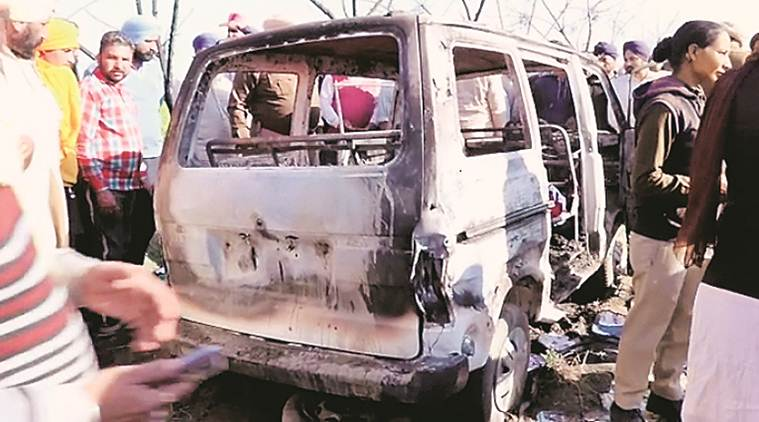 Four kids burnt alive as Punjab school van catches fire; CM orders probe