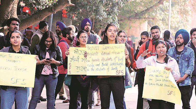 PU students protest in solidarity with students of Delhi's Gargi College