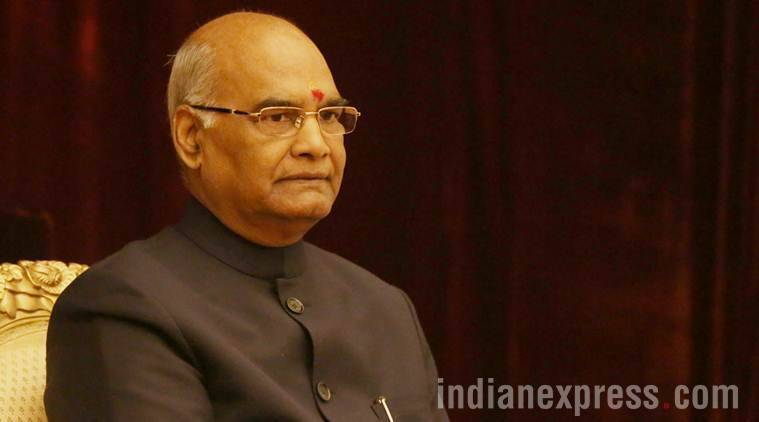 Ram Nath Kovind, Ram Nath Kovind on indian economy, -trillion target, Banking news, Indian express