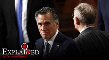 Mitt romney, who is mitt romney, donald trump impeachment trial, donald trump acquitted, mitt romney votes against trump, indian express, indian express explained