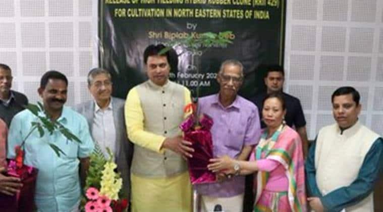 Biplab Deb, Tripura new rubber variety, RRII 429, rubber cultivation in India, rubber cultivation in Tripura, India Bangladesh transport route, tripura news, northeast news, indian express