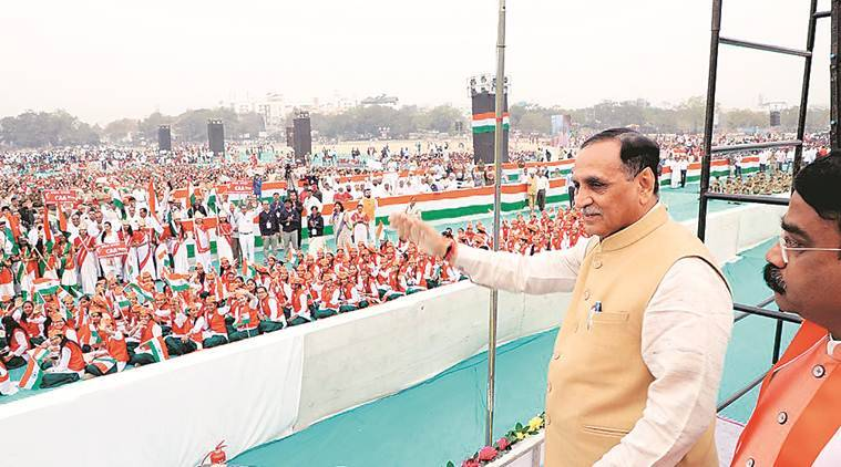 Gujarat: Vijay Rupani flags off pro-CAA rally, 60 per cent participants from schools and colleges
