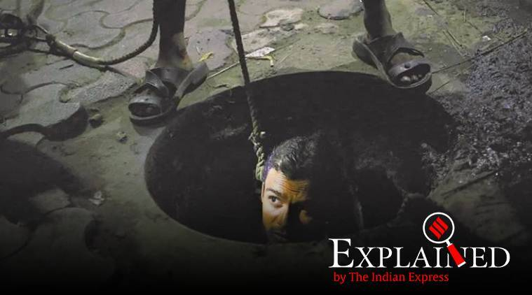 sewer deaths, sewer cleaners death, manual scavenging, septic tank cleaning, indian express explained
