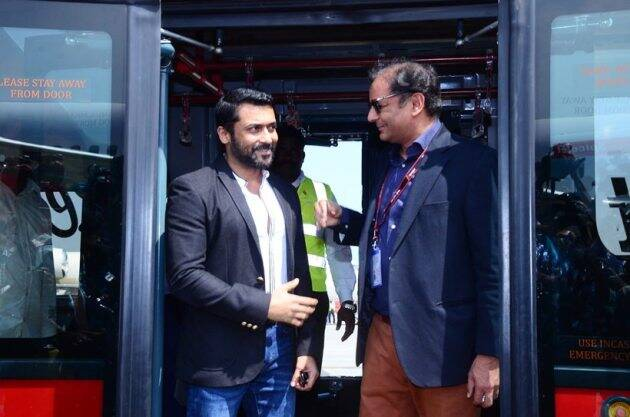 suriya with spice jet owner sanjay singh
