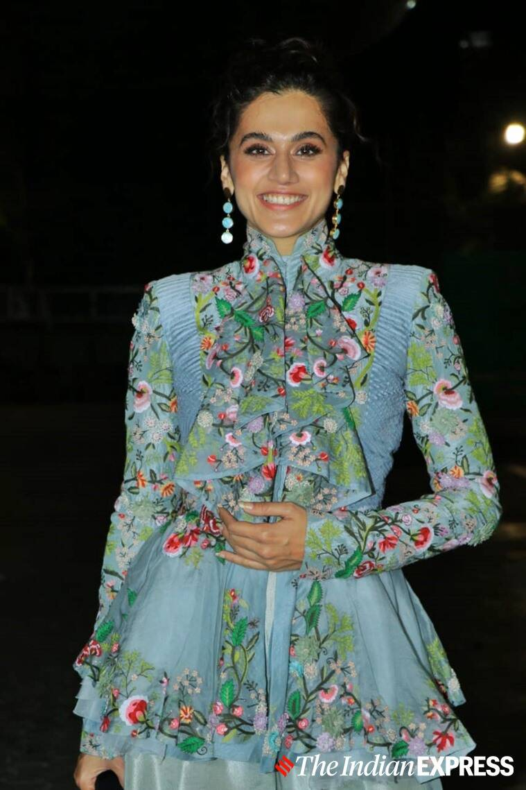 Taapsee Pannu thappad promotions, Taapsee Pannu latest photos, Taapsee Pannu thappad movie release, Taapsee Pannu actor thappad, Taapsee Pannu thappad review, indian express
