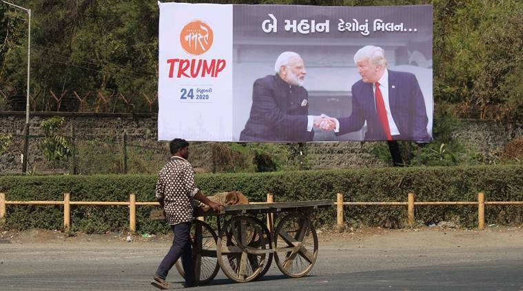 donald trump india visit, modi trump trade talks, modi trump meeting, donald trump Sabarmati visit, donald trump travel schedule, trump india visit date, indian express