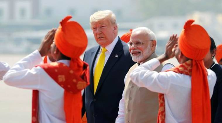 Donald trump narendra modi speech motera stadium live updates