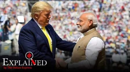 Trump India visit, Donald Trump, Blue dot network, China, china Belt and Road Initiative, US India relations, Indian Express