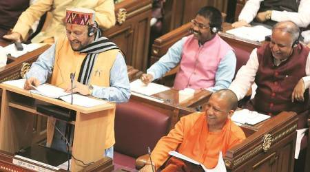 UP budget, yogi adityanath, Suresh KhannaSuresh Khanna, infrastructure development, housing for poor, UP tourism, BJP government, lucknow news, UP news, indian express news