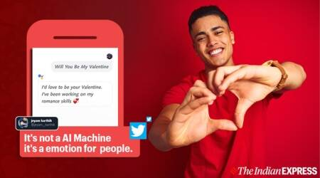 valentine's day, google india, google assistance, google india valentines day tweet, valentine's day 2020, google india funny tweets, indians google valentine tweet, funny news, indian express, tech news