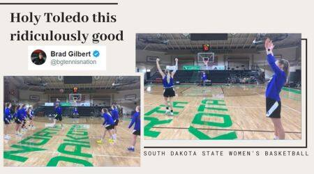 The South Dakota State women basketball, women basketball half court shots, basketball half court shots, viral videos, indian express, sports news