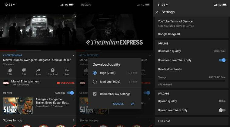 How To Download Youtube Videos For Offline Viewing Technology Gallery News The Indian Express Последние твиты от youtube (@youtube). how to download youtube videos for