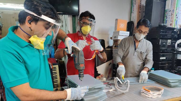 Covid-19: Mumbai firm 3D prints face shields for doctors in city