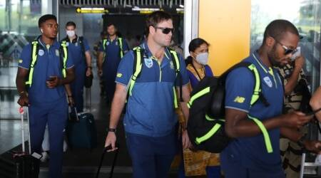 South Africa cricket team arrive in Kolkata before heading home due to coronavirus