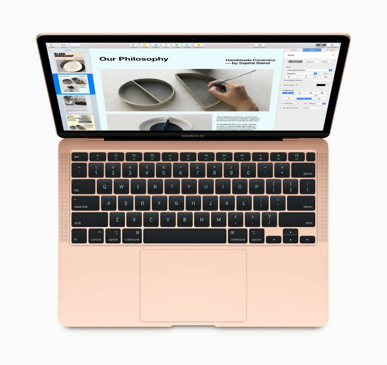 Apple MacBook Air, Apple New MacBook Air, Apple MacBook Air Price, Apple new MacBook Air Price in India, Apple new MacBook Air keyboard