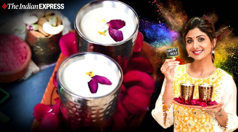 Healthy Almond Milk Thandai, shilpa shetty, shilpa shetty recipes, shilpa shetty channel, shilpa shetty kundra news, holi recipe, indianexpress.com, thandai recipe, how to make thandai, indianexpress, happy holi, holi thandai, kab hai holi, holi kab hai,