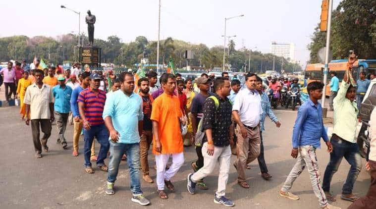 goli maro slogans in Kolkata, amit shah Kolkata rally, amit shah pro caa protests, indian express