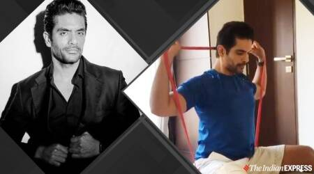 resistance band workouts, therabands, angad bedi injury, angad bedi recovery, angad bedi instagram, indianexpress.com, indianexpress, fitness goals, celeb fitness, theraband resistance workout, resistance workouts, training after recovery, fitness,